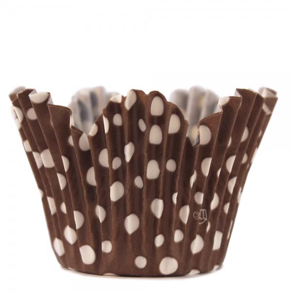 Flower dots - Brown