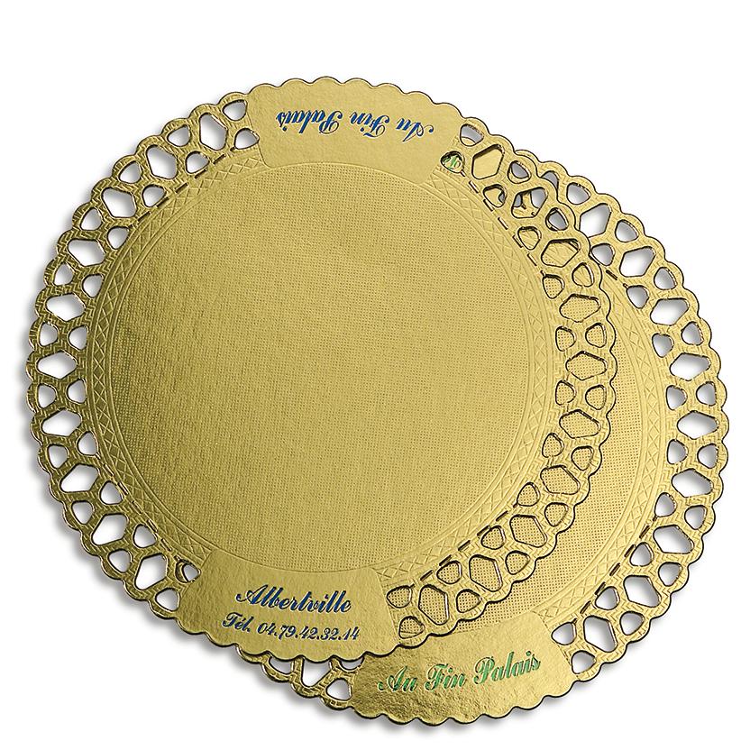 Guldspetsbrickor logotryck