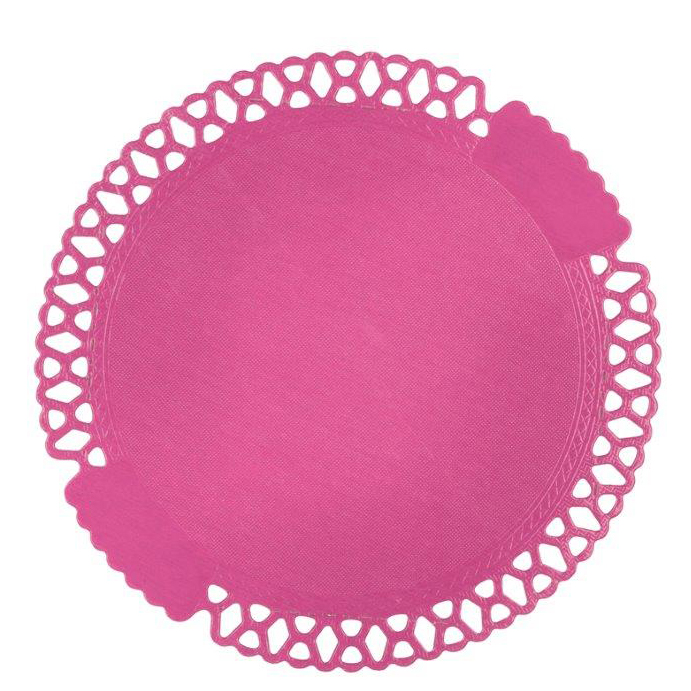 Tutti Frutti rosa spetstårtbricka