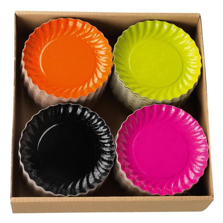 TuttiFrutti serveringsassietter sorterade färger