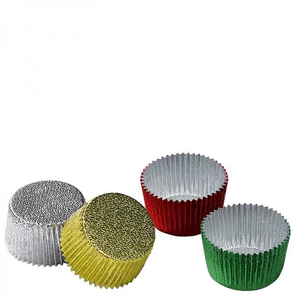 Aluminiumformar sorterade färger