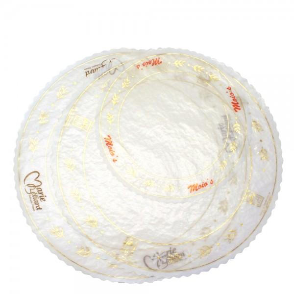 Pergamyntårtpapper rund