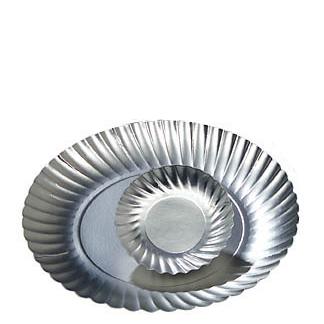 Serveringstallrik silver