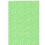 Wrapspapper grön/vit prickig